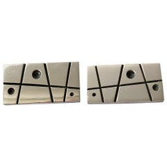 Everett MacDonald Sterling Silver American Modernist Cufflinks