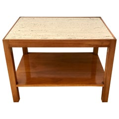 Everett Sebring Occasional Side Table with Marble Top