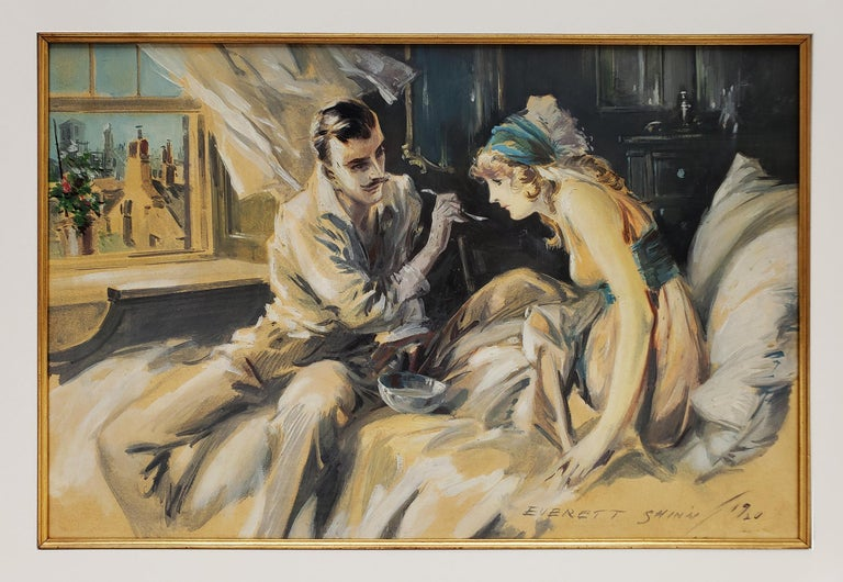 Hearts Unreasoning, by Sarah Bernhardt The First of Six Romances of the French S - Painting by Everett Shinn