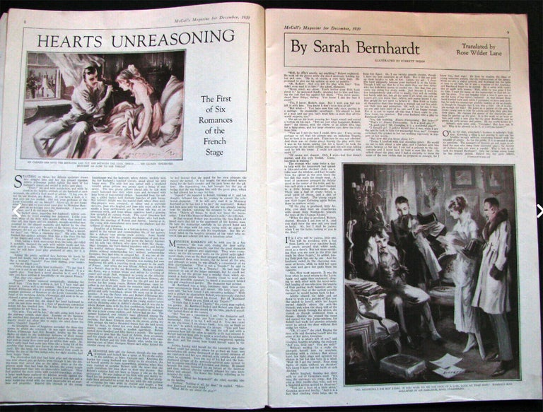 Hearts Unreasoning, by Sarah Bernhardt The First of Six Romances of the French S For Sale 1