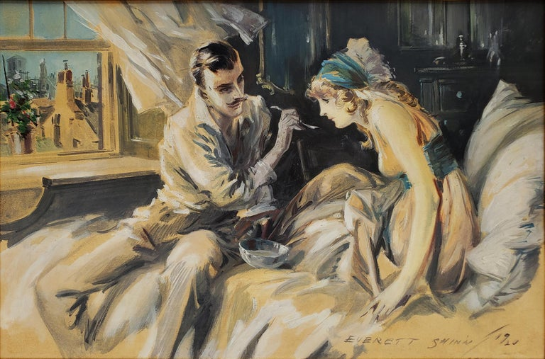Everett Shinn Figurative Painting - Hearts Unreasoning, by Sarah Bernhardt The First of Six Romances of the French S
