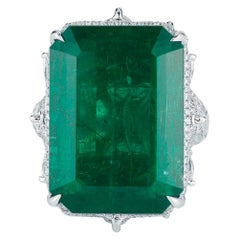 Evergreen Emerald and Diamond Ring by Takat