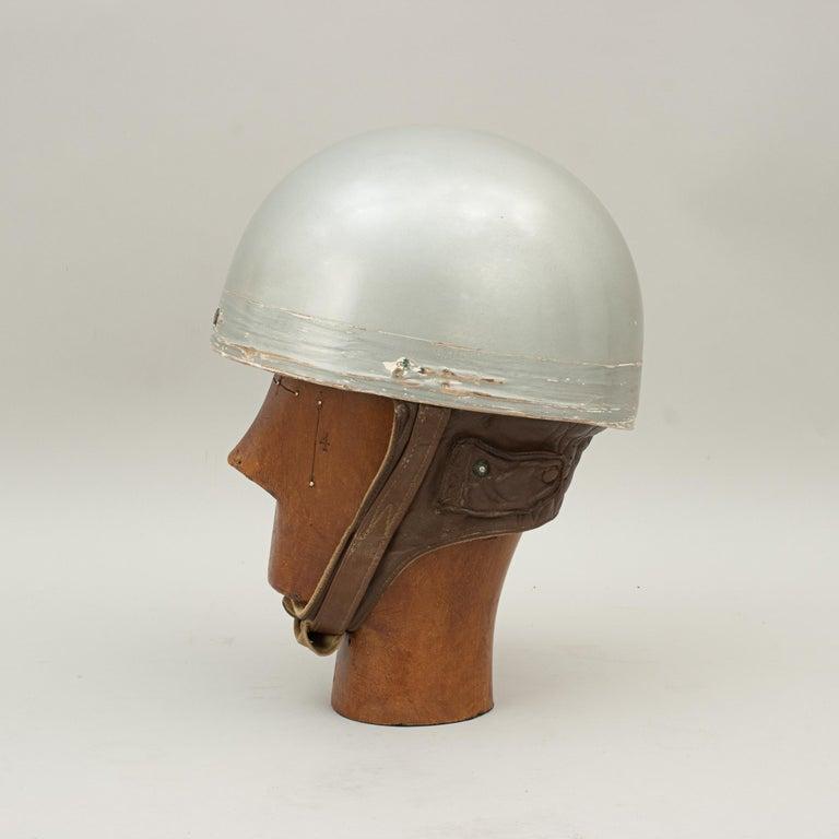 British Everoak Motorcycle Helmet, Acu Approved Pudding Basin Helmet For Sale