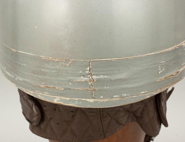 Mid-20th Century Everoak Motorcycle Helmet, Acu Approved Pudding Basin Helmet For Sale