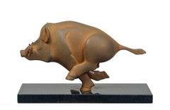 Everzwijn Small Wild Boar Sculpture Resin Cortensteel Coating