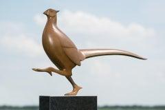 Fazant no. 8 (Pheasant) Bird Animal Bronze Sculpture Brown In Stock