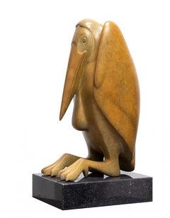 Maraboe no. 2 Marabou Bird Bronze Sculpture Contemporary Animal