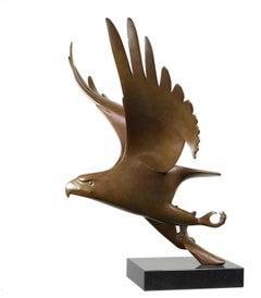 Roofvogel met Vis no. 1 Bird of Prey Bronze Sculpture Animal Contemporary