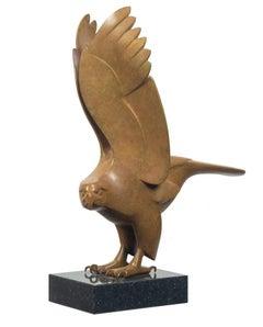 Roofvogel no. 2 Bird of Prey Bronze Sculpture Animal Contemporary