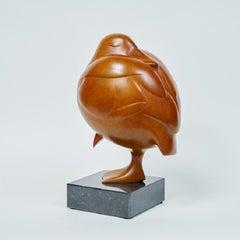 Slapend Eendje no. 5 Sleeping Duck Bronze Sculpture In Stock