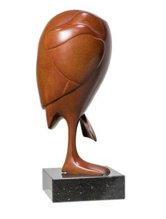 Slapend Eendje no. 6 Sleeping Duck Bird Animal Bronze Sculpture In Stock