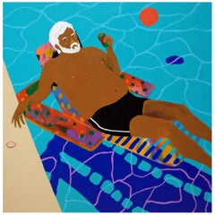 'Every Man is an Island' Portrait Painting by Alan Fears Pop Art Pool