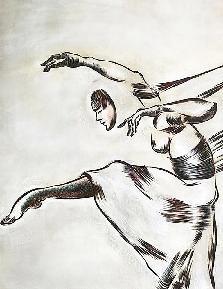 Contemporary mixed-media painting