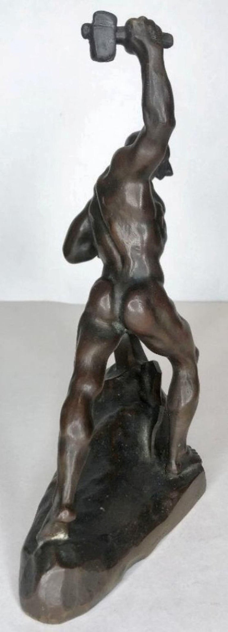 Evgeniy Vuchetich 'Let Us Beat Swords into Plowshares' Soviet Bronze Sculpture In Good Condition For Sale In New York, NY