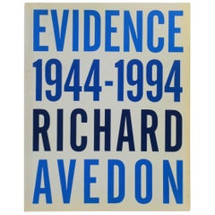Evidence 1944-1994 Richard Avedon Coffee Table or Library Book