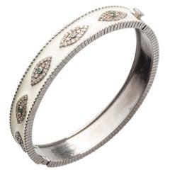 Evil Eye Diamond and Emerald Enamel Bracelet