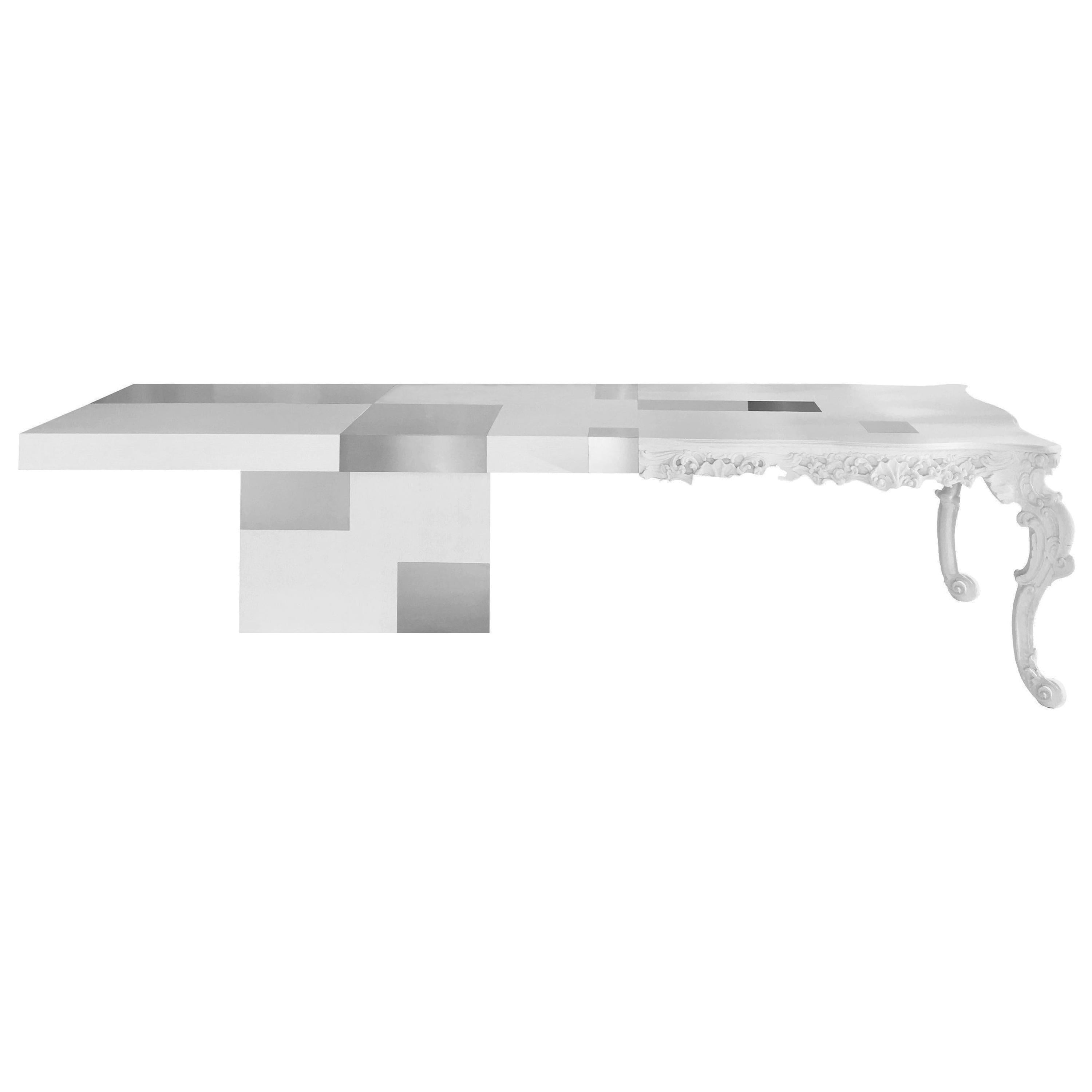 In Stock in Los Angeles, Evo White Dining Table, Feruccio Laviani, Made in Italy
