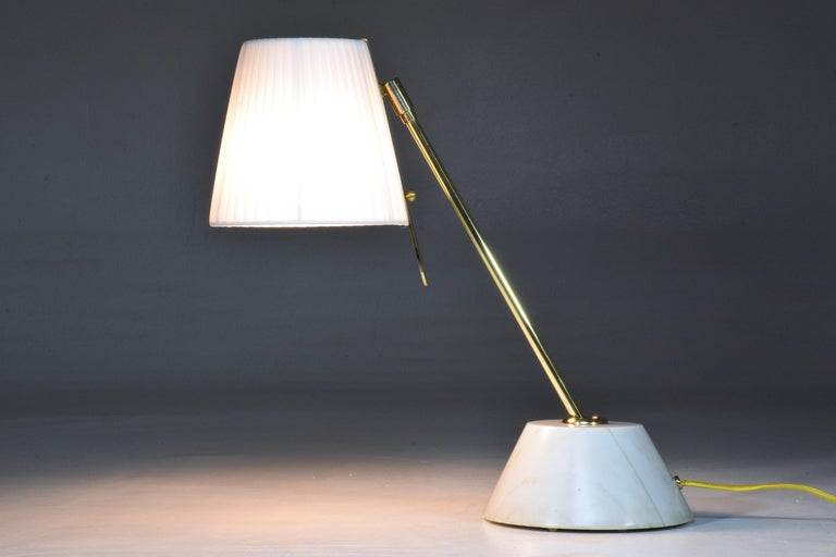 Polished Evolution-III Contemporary Brass Table Lamp, Flow Collection For Sale