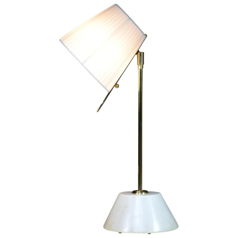 Evolution-III Contemporary Brass Table Lamp, Flow Collection For Sale