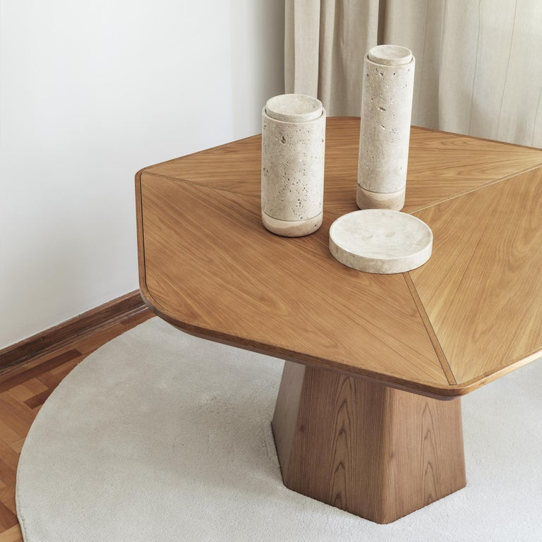 Turkish Evolve Marble, Wood, Dining Table 21st Century, Modern For Sale
