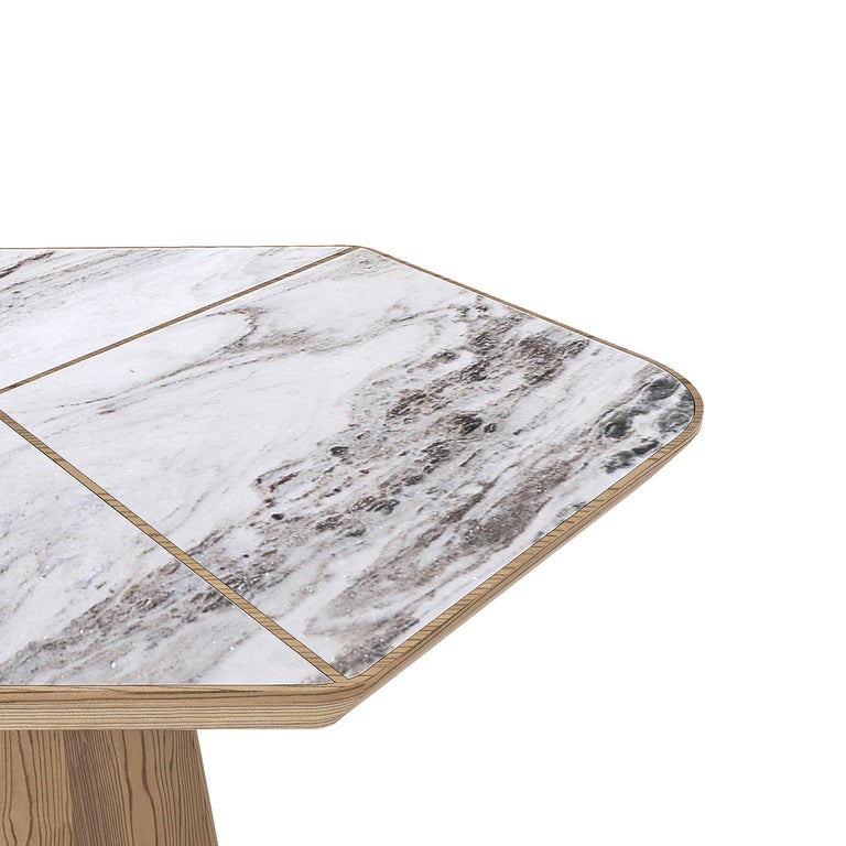 Evolve Marble, Wood, Dining Table 21st Century, Modern In New Condition For Sale In Istanbul, TR