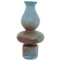 Evora Handmade Large Vase in Large in Iridescent Glass by CuratedKravet
