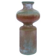 Evora Medium Vase in Gold Glass by CuratedKravet