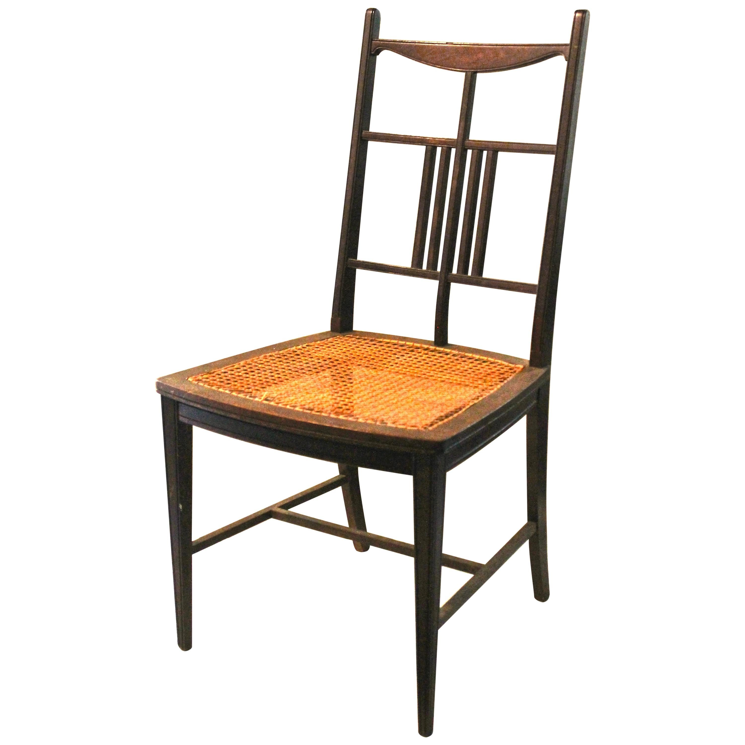 E.W. Godwin Attributed Anglo-Japanese Aesthetic Movement Side Chair