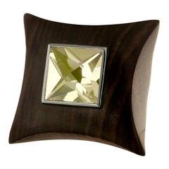 E.W. Schreiber 16.0 Carat Citrine Ebony Wood Gold Ring