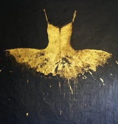 Golden Dress, 2020 Acrylic on cloth 74.8 x 78.74 in. 190 x 200 cm