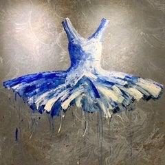 Transatlantic Dress, 2019 Acrylic on cloth 80.7 x 78.74 in. 205 x 200 cm
