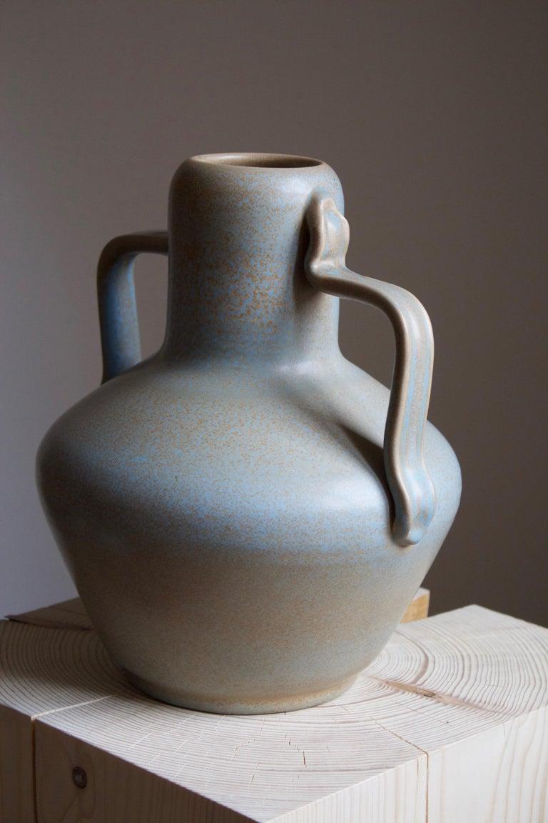 Swedish Ewald Dahlskog, Sizable Vase, Glazed Stoneware, Bo Fajans, Sweden, c. 1937 For Sale