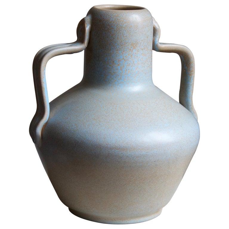 Ewald Dahlskog, Sizable Vase, Glazed Stoneware, Bo Fajans, Sweden, c. 1937 For Sale
