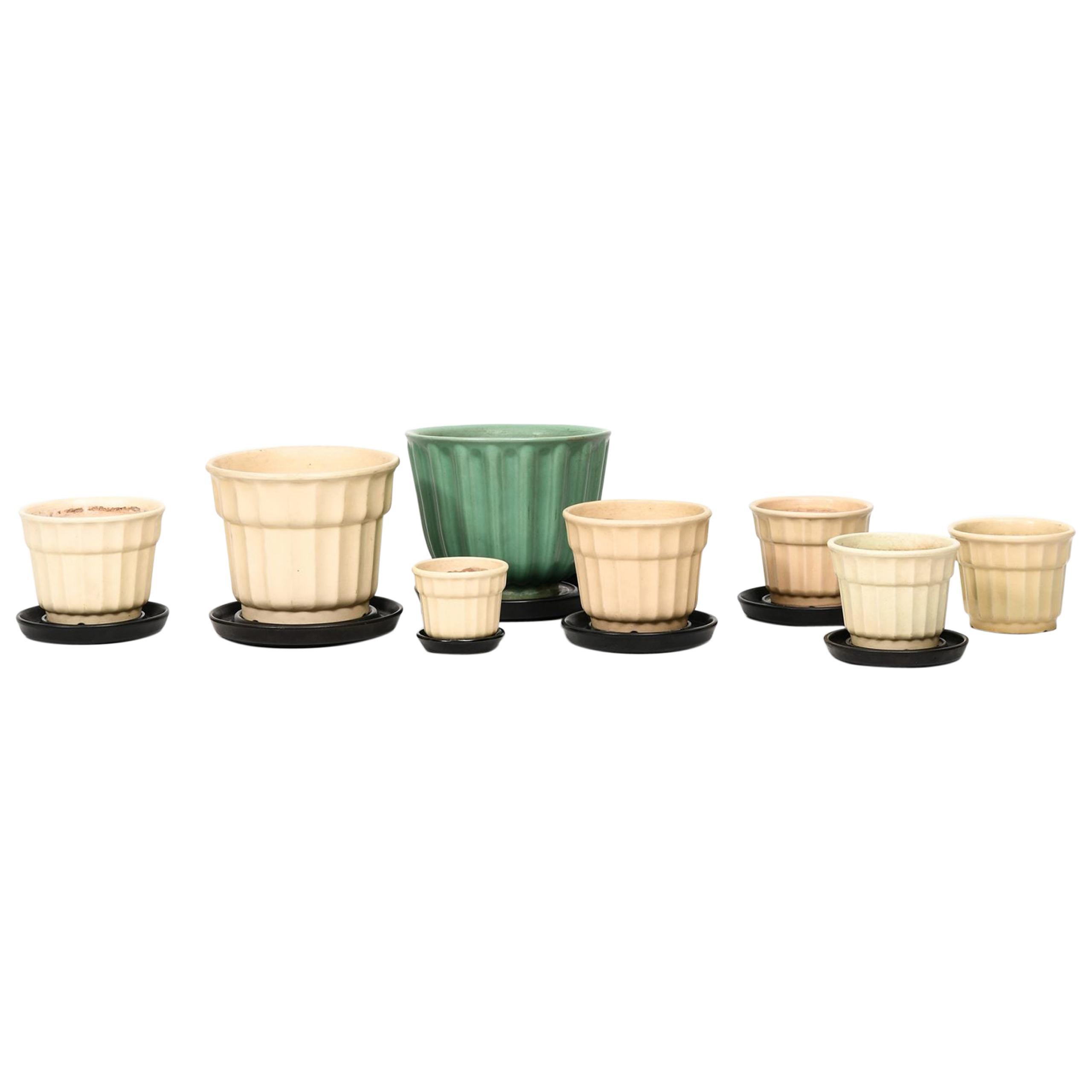 Ewald Dahlskog Vases/Flower Pots Model Tellus by Bobergs Fajansfabrik in Sweden