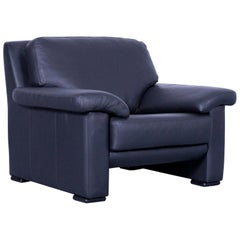 Ewald Schillig Armchair Black Leather One-Seat