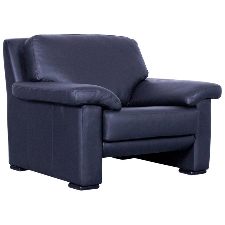 Ewald Schillig Armchair Black Leather One-Seat
