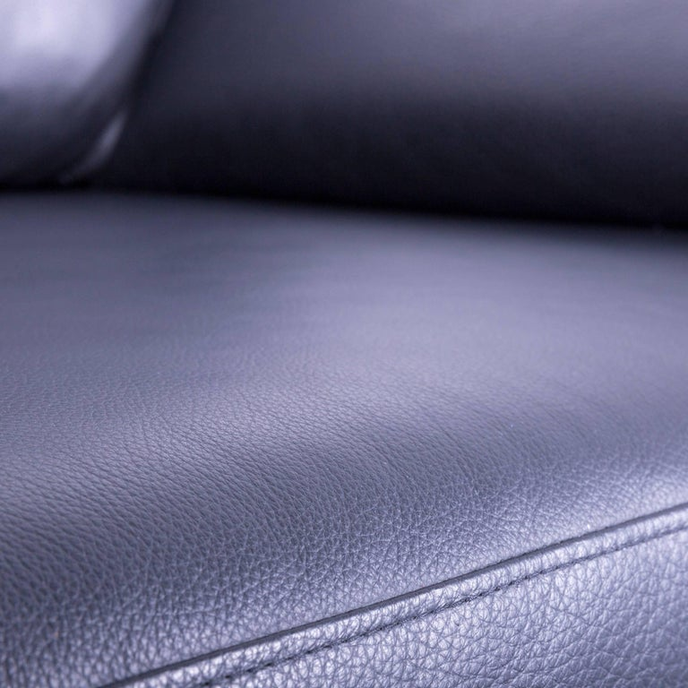 German Ewald Schillig Armchair Black Leather One-Seat