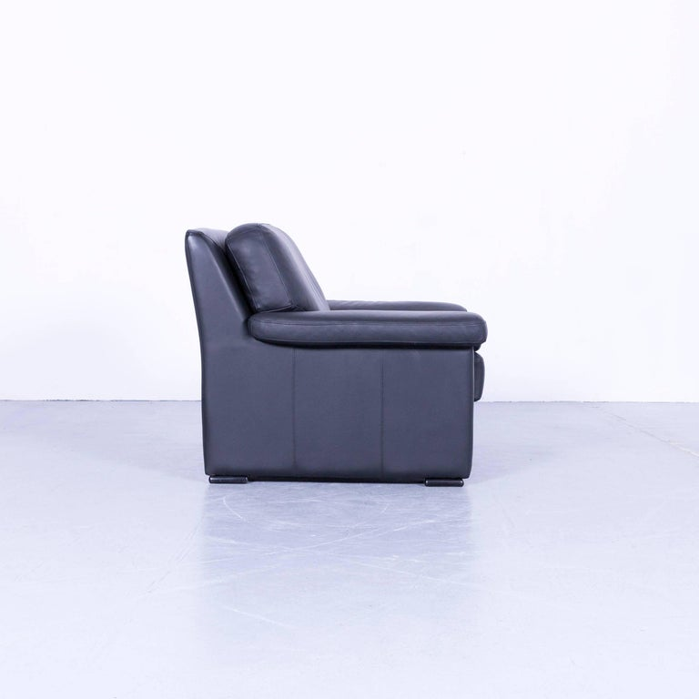 Ewald Schillig Armchair Black Leather One-Seat 1