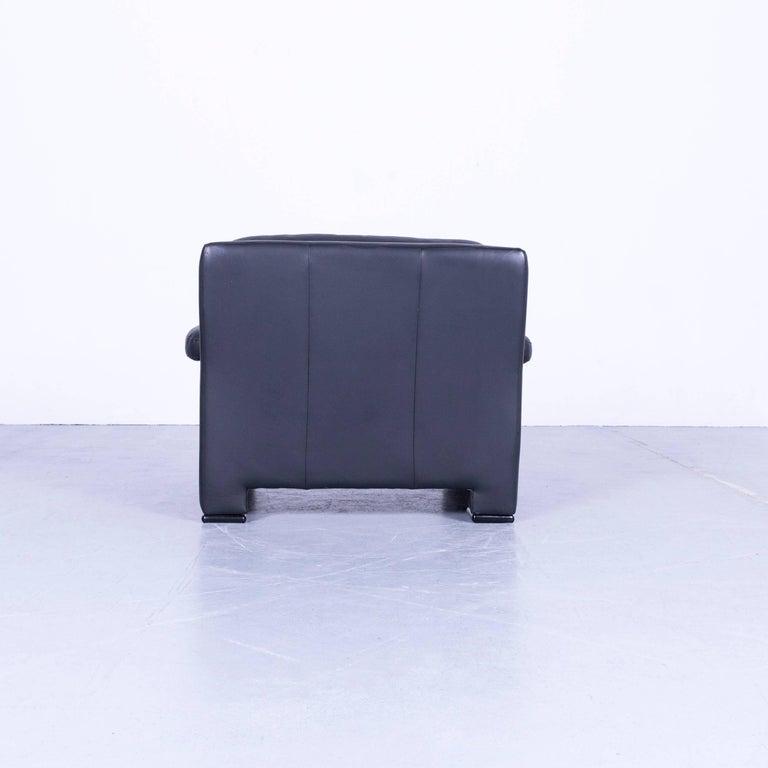 Ewald Schillig Armchair Black Leather One-Seat 2