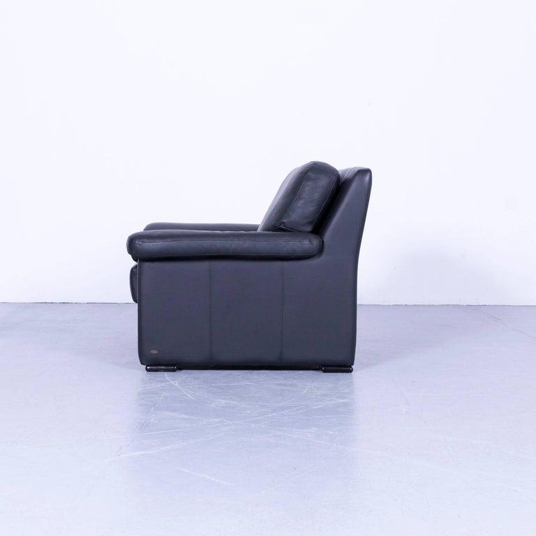 Ewald Schillig Armchair Black Leather One-Seat 3
