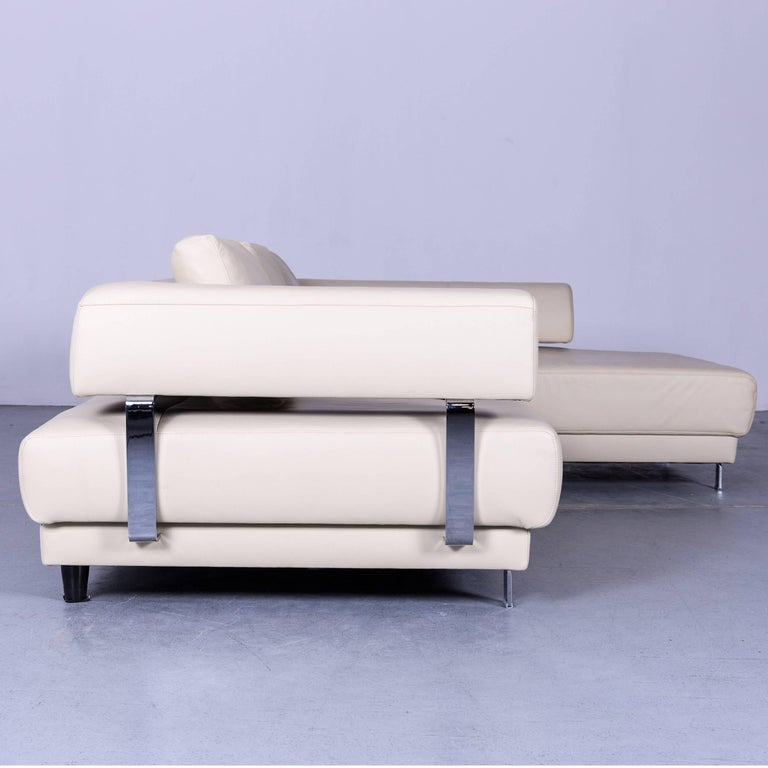 ewald schillig brand face designer corner sofa beige leather couch modern at 1stdibs