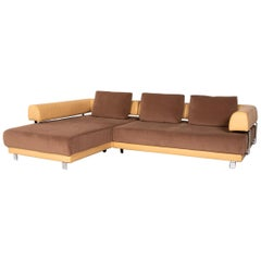Ewald Schillig Brand Face Electric Function Leather Fabric Corner Sofa Beige