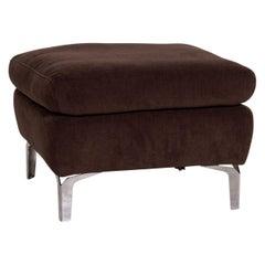 Ewald Schillig Brand Inez Fabric Sofa Brown Dark Brown Ottoman