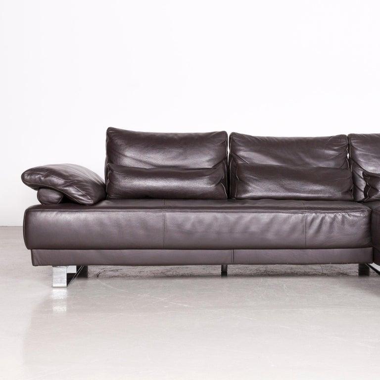Ewald Schillig Designer Leather Corner Couch Brown Sofa at 1stdibs