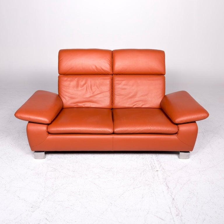 Ewald Schillig Designer Leather Sofa Set Stool Three-Seat ...