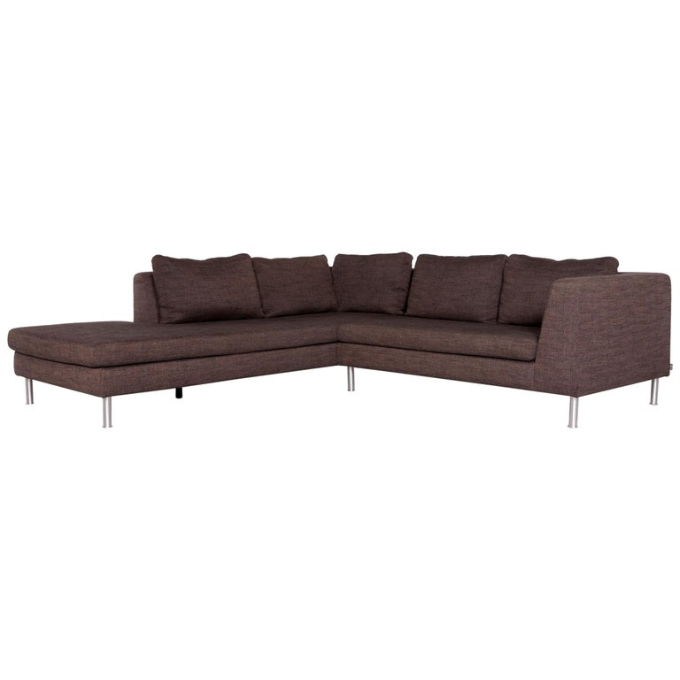 Ewald Schillig Fabric Sofa Brown Corner Sofa