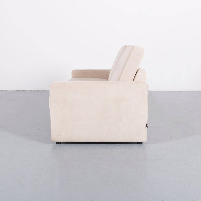 Ewald Schillig Fabric Sofa Off-White Two-Seat Couch 5