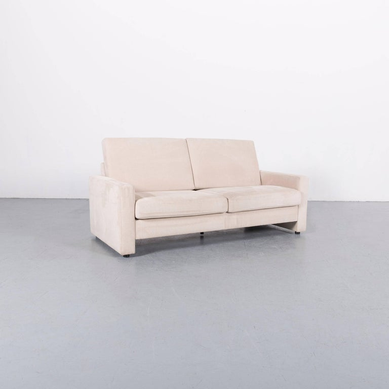 Ewald Schillig Fabric Sofa Off-White Two-Seat Couch 1