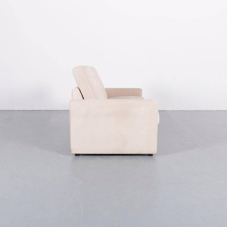 Ewald Schillig Fabric Sofa Off-White Two-Seat Couch 3