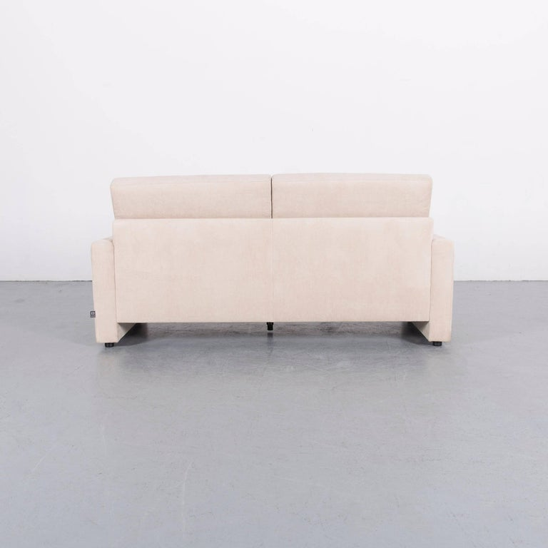 Ewald Schillig Fabric Sofa Off-White Two-Seat Couch 4